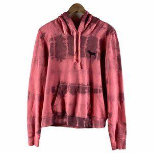 PINK Victoria's Secret Distressed Tie Dye Hoodie L